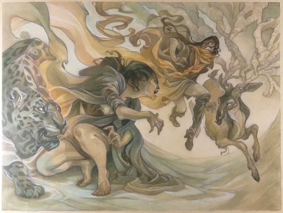 Fantasy illustration by Wylie Beckert: Cold Wind