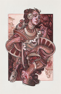 Queen of Hearts illustration by artist Wylie Beckert
