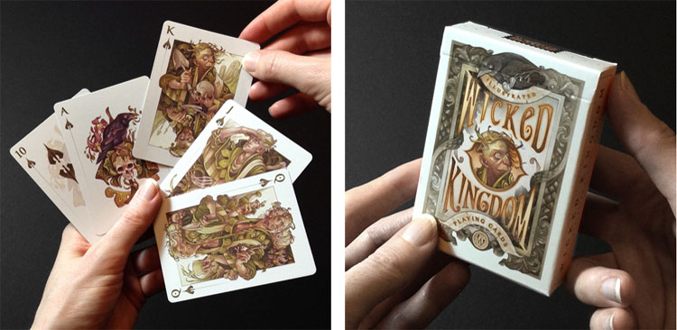 the Wicked Kingdom illsutrated playing card deck